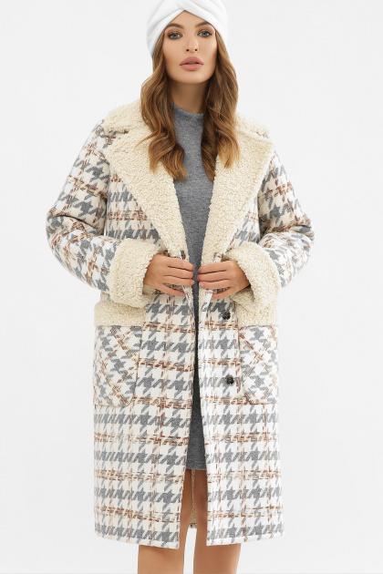 . Пальто ПД-14-100. Цвет: 2449-лапка серый