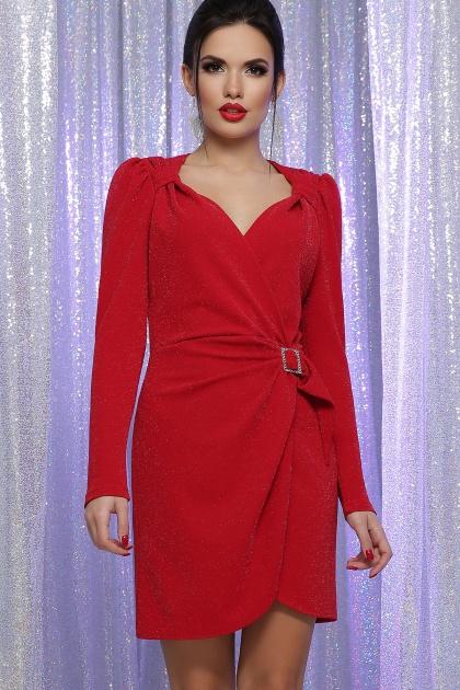 блестящее красное платье. Платье Николь-1 д/р. Цвет: красный