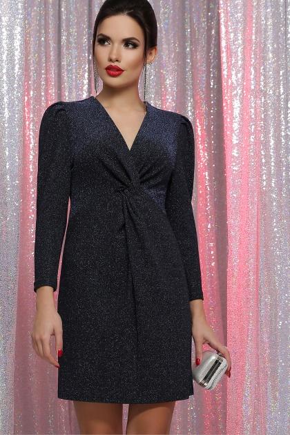короткое платье с люрексом. платье Нила 3/4. Цвет: черный-синий