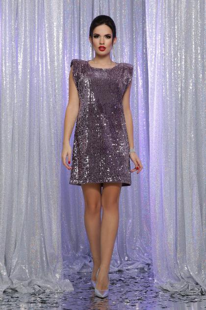 лиловое платье с пайетками. платье Авелина б/р. Цвет: т. лиловый-лиловый
