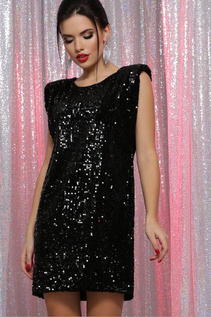 лиловое платье с пайетками. платье Авелина б/р. Цвет: черный-черный