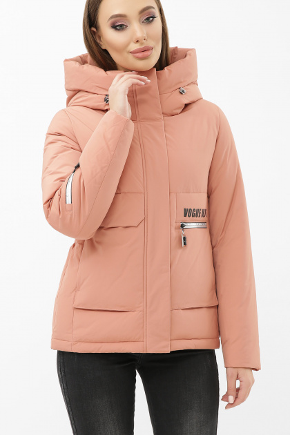 . Куртка М-2092. Колір: 29-пудра-серебро