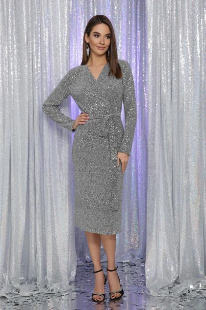 . Платье Залина д/р. Цвет: серый