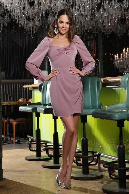 коктейльное серое платье. Платье Анелия д/р. Цвет: лиловый
