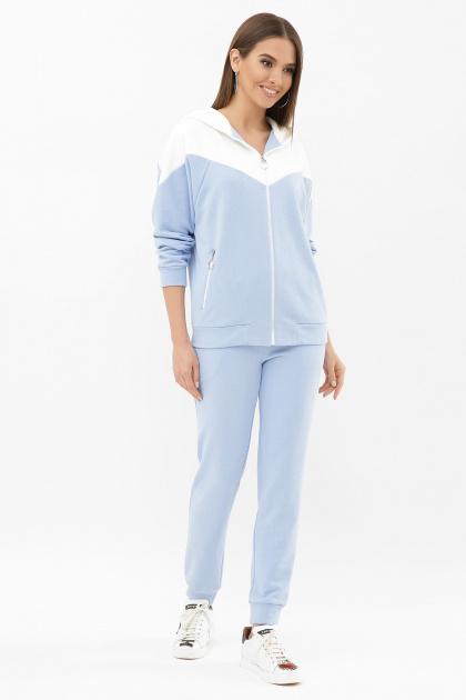 бирюзовый спортивный костюм. Костюм Пэм. Цвет: голубой-белая отд.