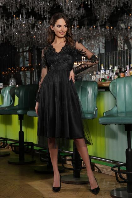 черное платье с вышивкой. Платье Марита д/р. Цвет: черный
