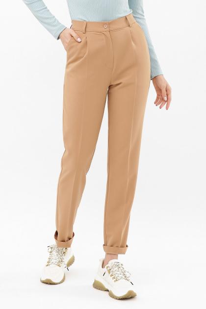 женские брюки цвета фуксии. Брюки Мирей. Цвет: бежевый