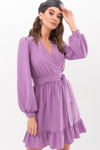 . Платье Идэн д/р. Цвет: сирень-точка черная