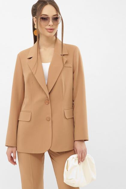 офисный пиджак цвета фуксии. Пиджак Сабера д/р. Цвет: бежевый