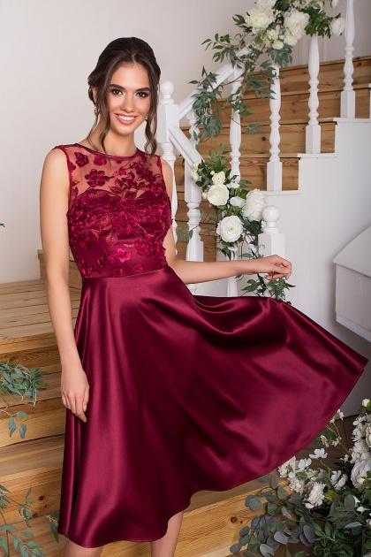 вечернее бордовое платье. Платье Пайпер б/р. Цвет: бордовый