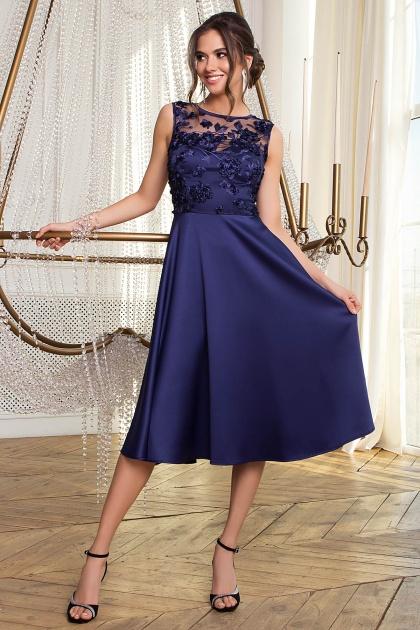вечернее бордовое платье. Платье Пайпер б/р. Цвет: синий
