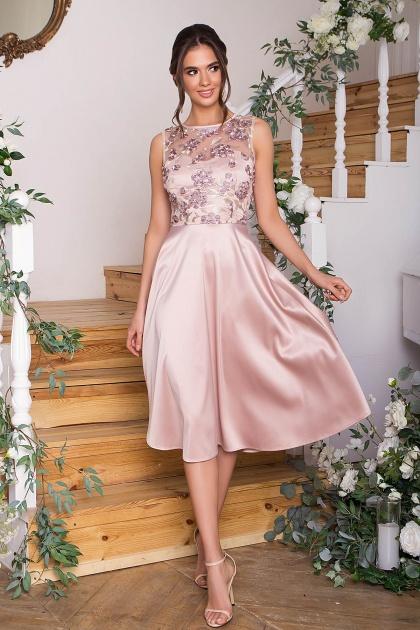 вечернее бордовое платье. Платье Пайпер б/р. Цвет: бежевый