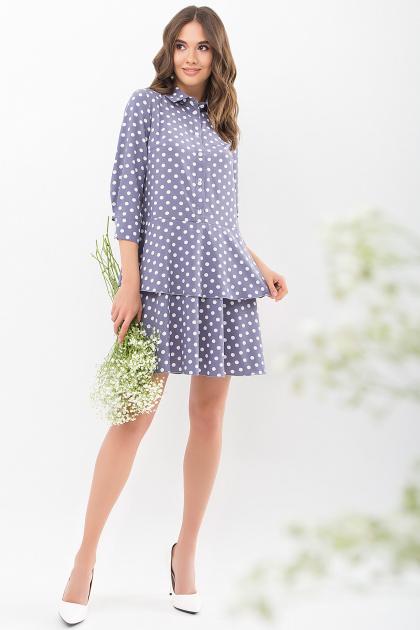 . Платье Салима 3/4. Цвет: серый-белый горох