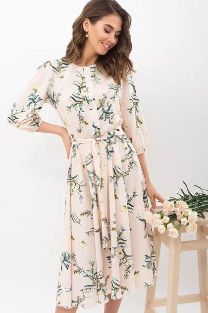 . Платье Сауле 3/4. Цвет: персик-ветка