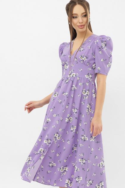 . Платье Фариза к/р. Цвет: сиреневый-белый букет
