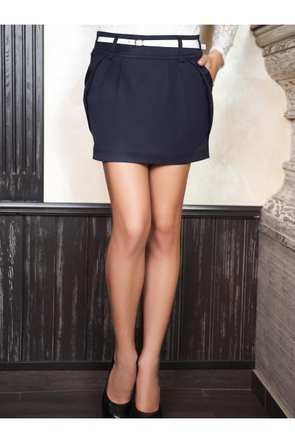белая юбка с карманами. юбка мод. №4. Цвет: темно синий