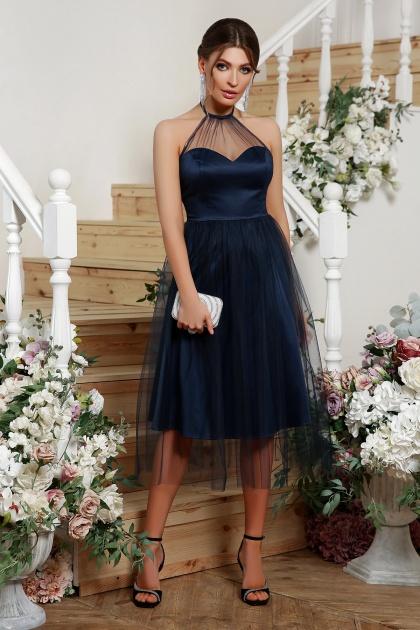синее платье миди. Платье Джена б/р. Цвет: синий
