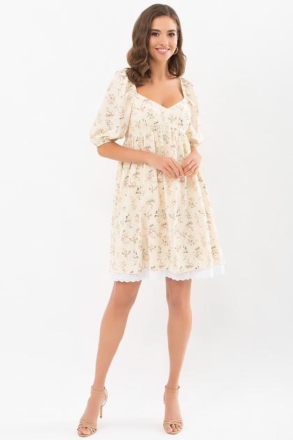 . Платье Эсмина к/р. Цвет: молоко-полевые цветы