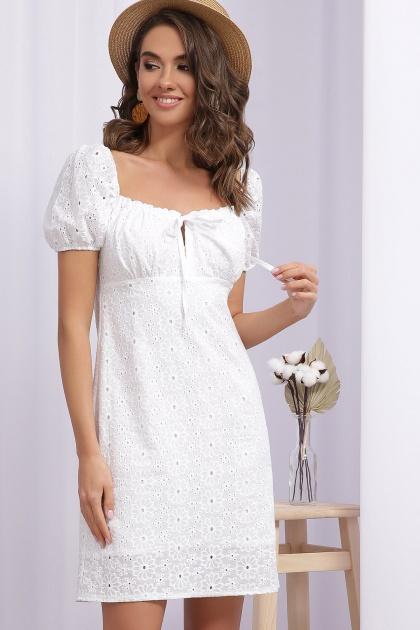 белое мини платье. Платье Бажена к/р. Цвет: белый 1