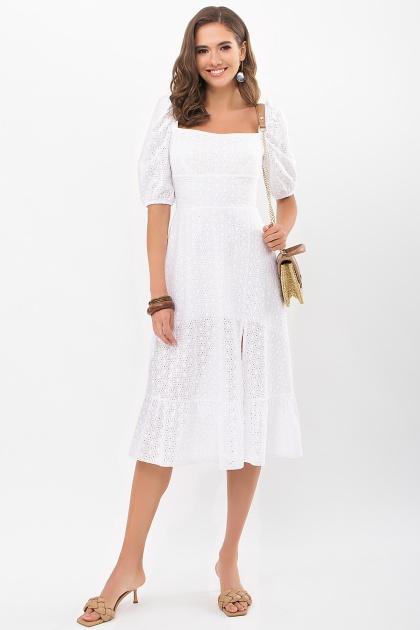 белое платье из прошвы. Платье Коста к/р. Цвет: белый