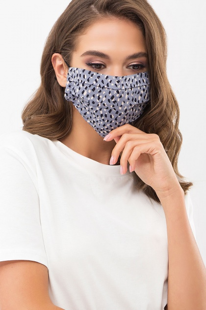 защитная черная маска. Маска №1. Цвет: джинс-разноцв.пятна