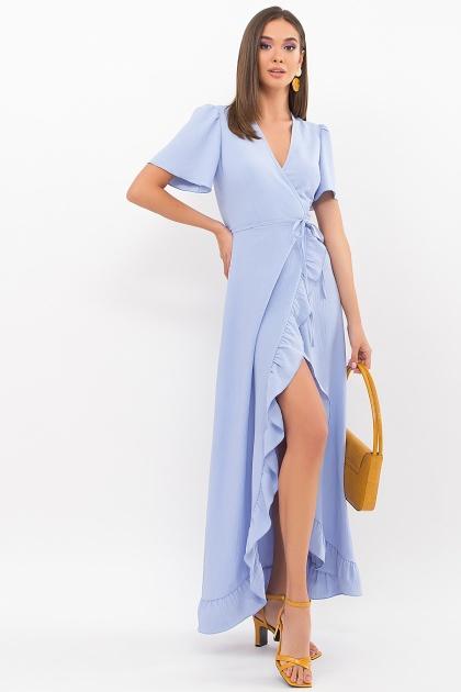 . Платье Румия-1 к/р. Цвет: голубой
