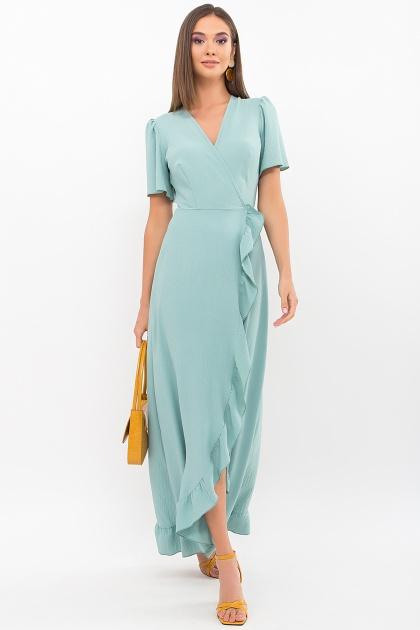 . Платье Румия-1 к/р. Цвет: нефритовый