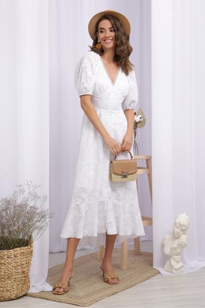 . Платье Саммери к/р. Цвет: белый