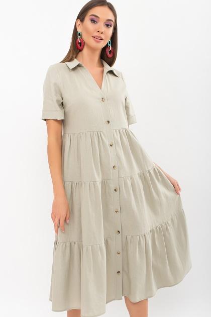 . Платье Иветта к/р. Цвет: оливковый