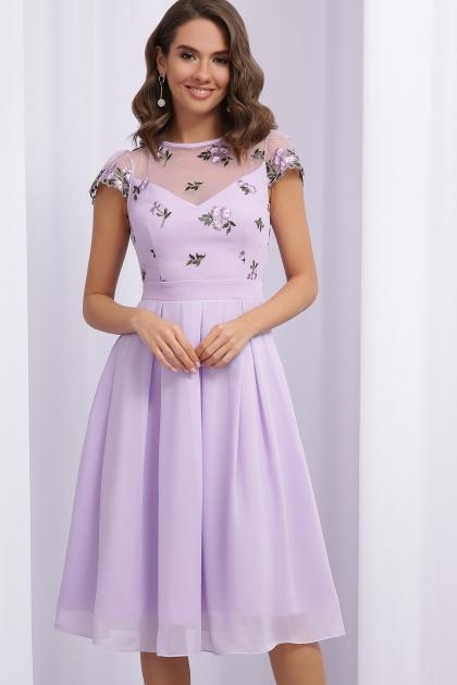 нарядное платье лавандового цвета. Платье Айседора б/р. Цвет: лавандовый 1