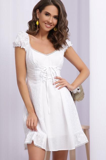 белое платье из хлопка. Платье Ожена к/р. Цвет: белый