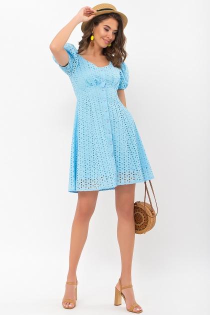. Платье Эдна к/р. Цвет: голубой