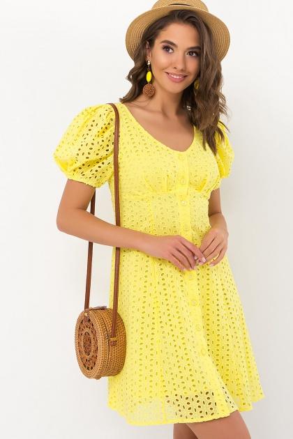 . Платье Эдна к/р. Цвет: желтый
