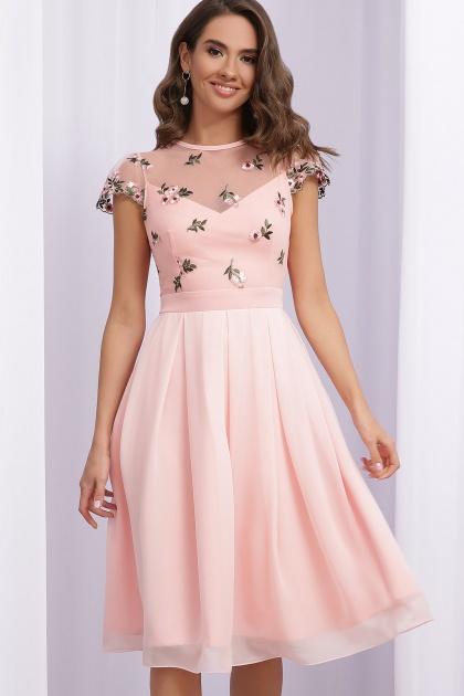 нарядное платье лавандового цвета. Платье Айседора б/р. Цвет: персик 1