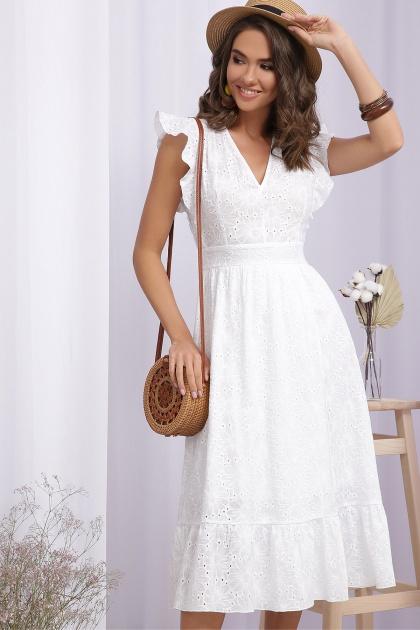 летнее белое платье. Платье Дария б/р. Цвет: белый 1