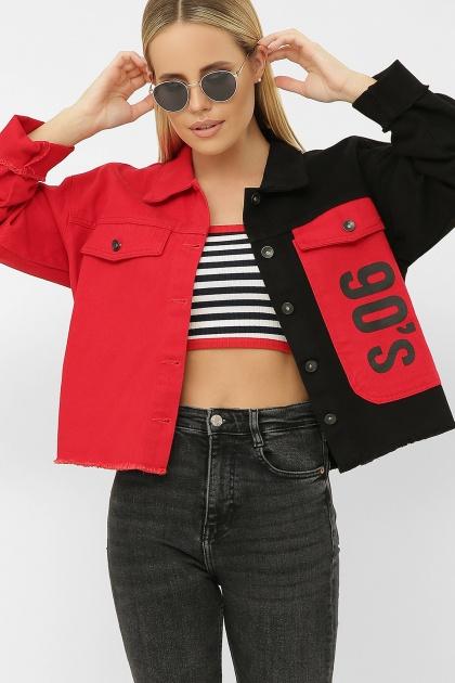 . 211890 AST Куртка VА. Цвет: черный-красный