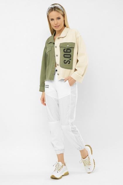 . 211890 AST Куртка VА. Цвет: хаки-молоко