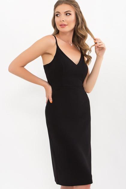 черное платье на тонких бретелях. Платье Кеори б/р. Цвет: черный