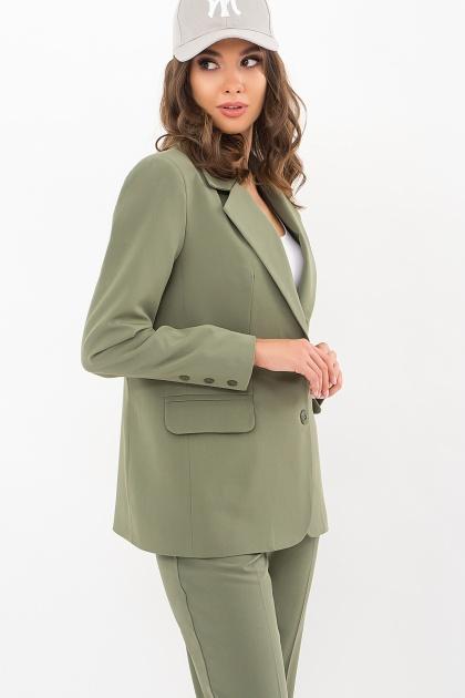 офисный пиджак цвета фуксии. Пиджак Сабера д/р. Цвет: хаки