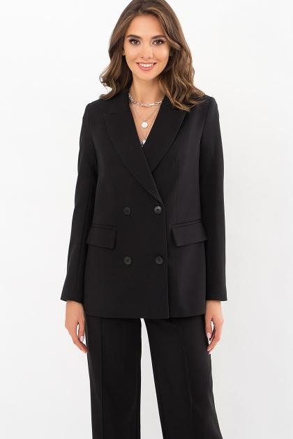 черный деловой пиджак. Пиджак Элейн д/р. Цвет: черный