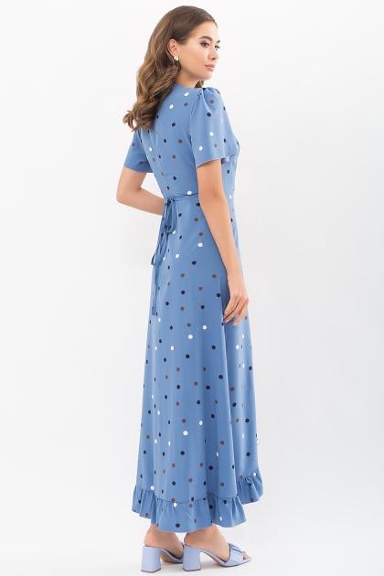 платье хаки в горошек. Платье Румия к/р. Цвет: джинс-горох цветной в интернет-магазине