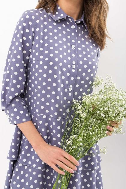 . Платье Салима 3/4. Цвет: серый-белый горох в интернет-магазине