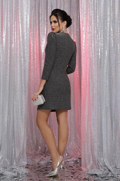 короткое платье с люрексом. Платье Нила 3/4. Цвет: черный-серебро в интернет-магазине