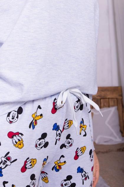 пижама с брюками для сна. Пижама Амаль. Цвет: голубой-Микки Маус в интернет-магазине