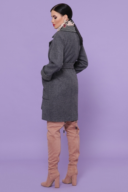 демисезонное песочное пальто. Пальто П-347-М-90. Цвет: 12-т.серый цена