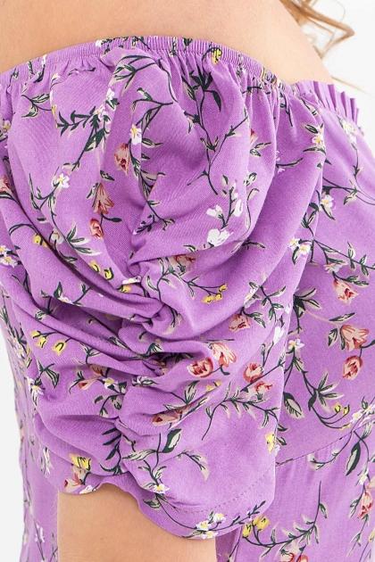 . Платье Никси к/р. Цвет: лиловый-цветы веточки в Украине