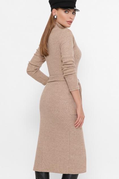 теплое платье-футляр. Платье Виталина 1 д/р. Цвет: бежевый цена