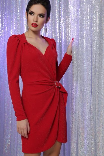 блестящее красное платье. Платье Николь-1 д/р. Цвет: красный цена