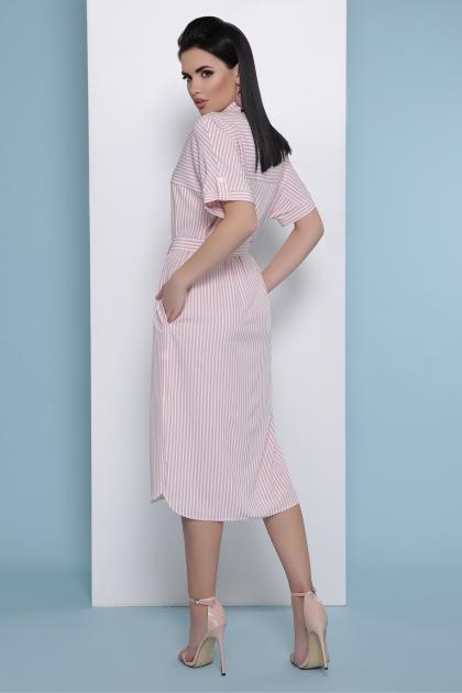 платье-рубашка в голубую полоску. Платье-рубашка Дарья к/р. Цвет: розовая полоска цена