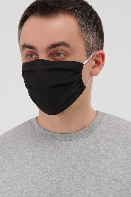 тканевая маска в горошек. Маска №1. Цвет: черный в интернет-магазине